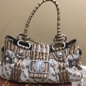 Guess two-toned brown purse